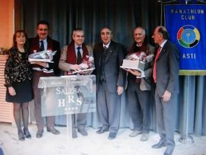 Nella foto: Alessandra Visioli, Beppe Gandolfo, Rosario Rampanti, Leo Luca Campagna, Don Aldo Rabino, Gian Maria Piacenza