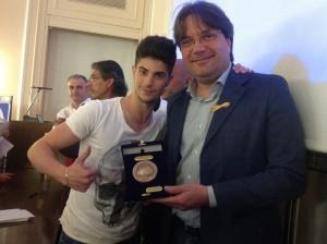 Consegnato il sigillo della Città al ballerino astigiano Nicolò Noto.