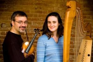 ArParla-Davide-Monti-violin-Maria-Christina-Cleary-harp - gazzetta d'asti