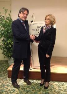 l'incontro tra il Sindaco Brignolo e la viceministro Brunilda Paskali.