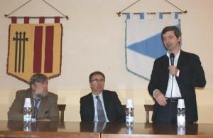 Nella foto: il ministro Orlando con il deputato Fiorio e il sindaco Spiota