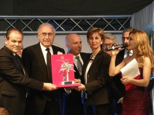 La premiazione al Royal Hotel di Pippo Baudo