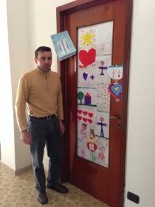 Michele Buoninconti davanti alla cameretta dei figli