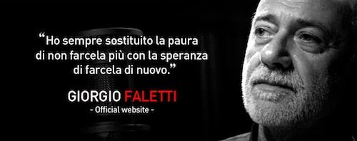L Ultimo Messaggio Ai Fan Di Giorgio Faletti Gazzetta D Asti