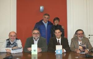 Testore, Blini, Borgio, Risso) con  Loredana Dova e il sindaco Giovanni Borriero;