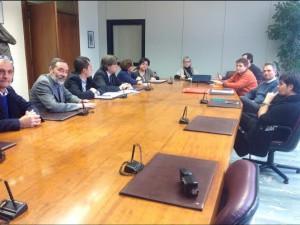 uno degli incontri tra il presidente Brignolo e i consiglieri provinciali con i rappresentanti dei lavoratori della Provincia di Asti, preoccupati per il loro futuro.