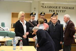 I genitori di Elena Ceste con gli avvocati di parte civile al termine della sentenza