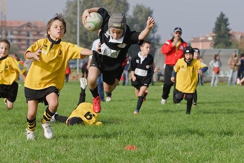 Junior Asti Rugby impegnata con il settore propaganda ad Astinel Torneo del Tartufo