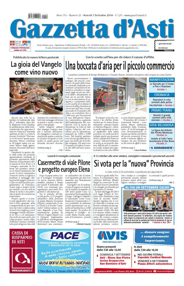 Prima pagina – 5 settembre 2014