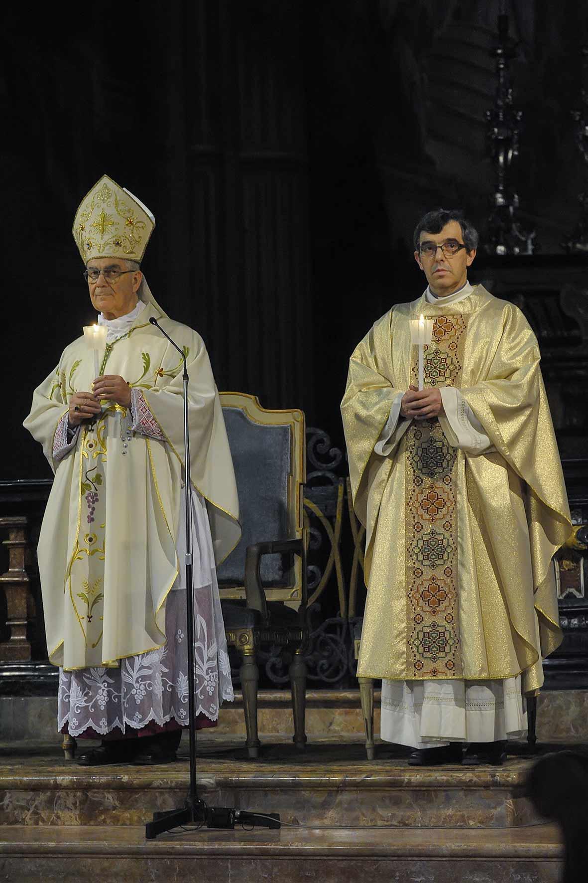 La veglia pasquale in Cattedrale