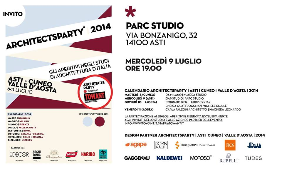 """ArchitectsParty"" al Parc Studio di Asti"