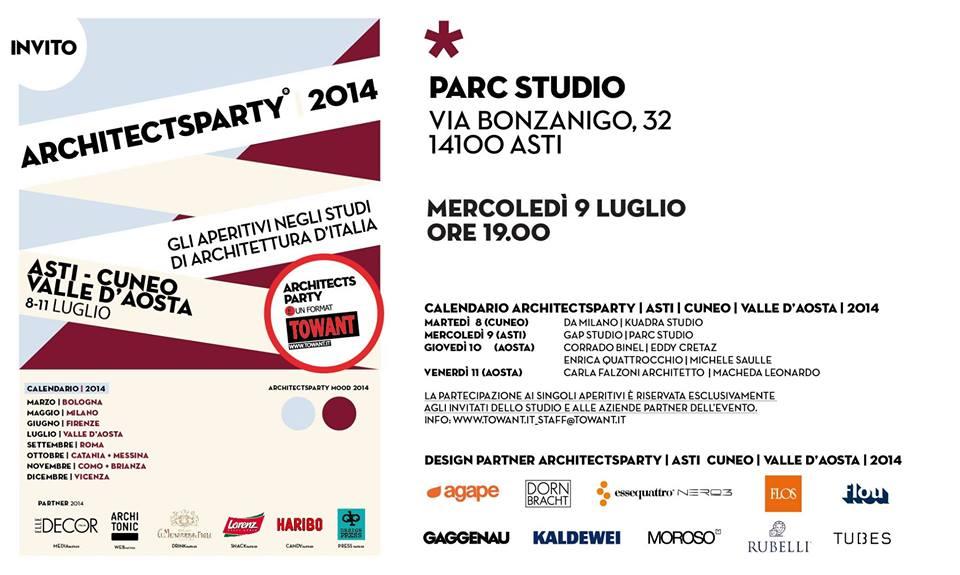 """""""ArchitectsParty"""" al Parc Studio di Asti"""