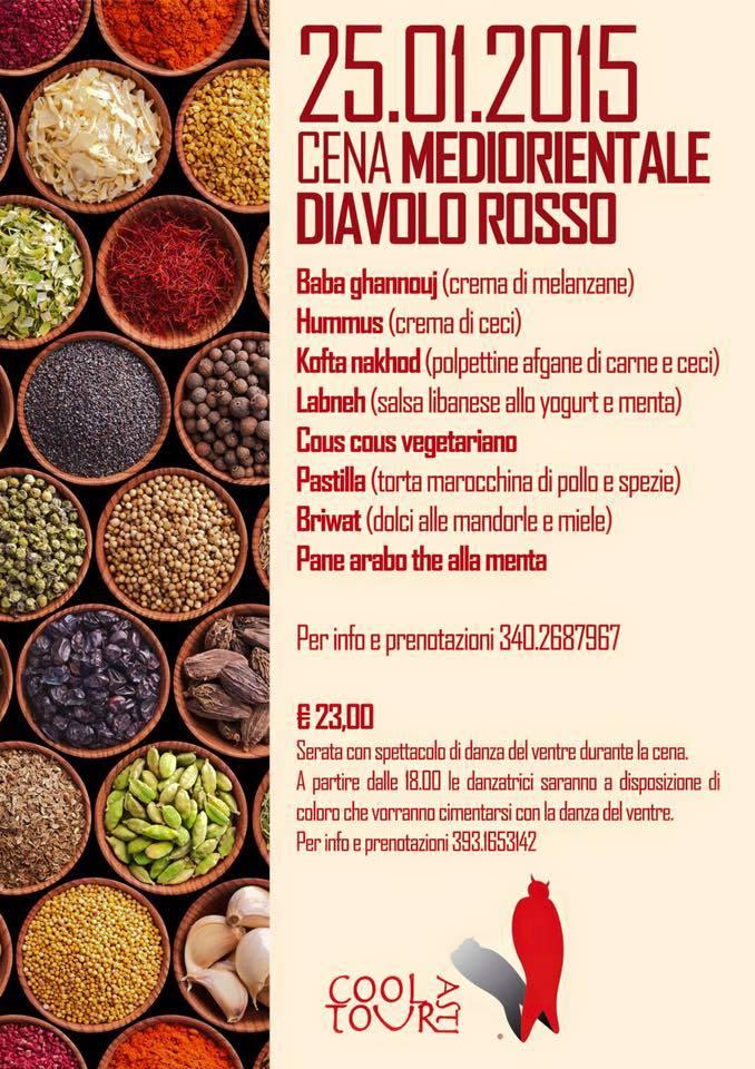 Cena mediorientale al Diavolo Rosso di Asti