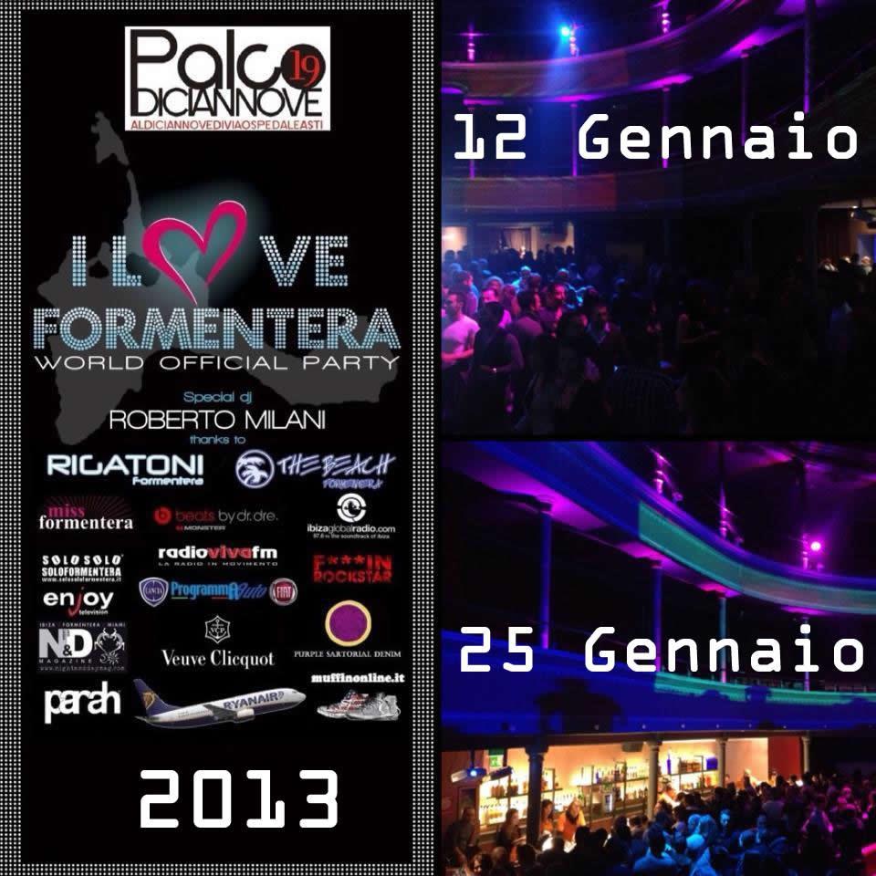 """""""I love Formentera"""", dj set di Roberto Milani al Palco Diciannove"""