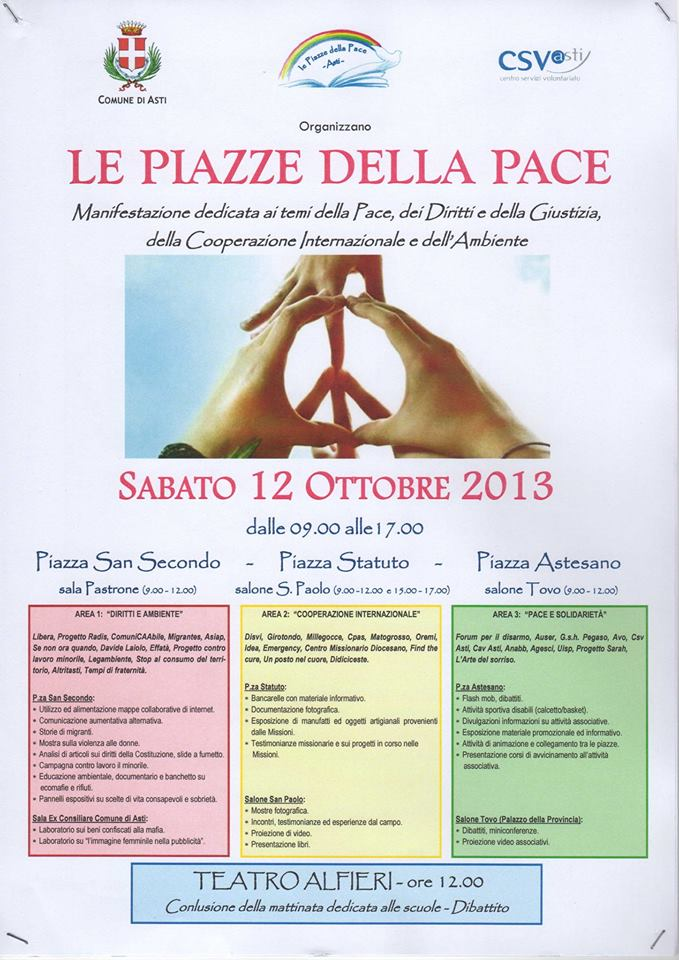 Le Piazze della Pace ad Asti