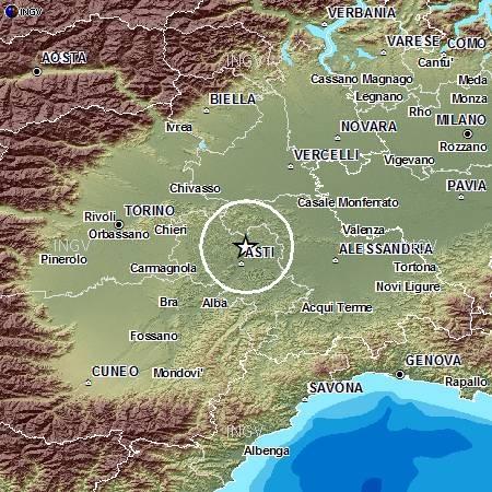 Ancora una scossa di terremoto nell'Astigiano, magnitudo 2,4