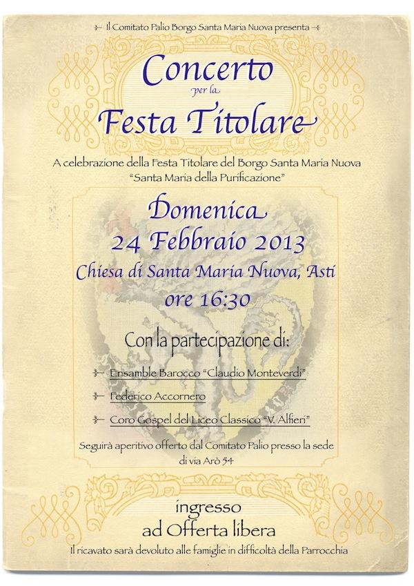 concerto festa titolare santa maria nuova