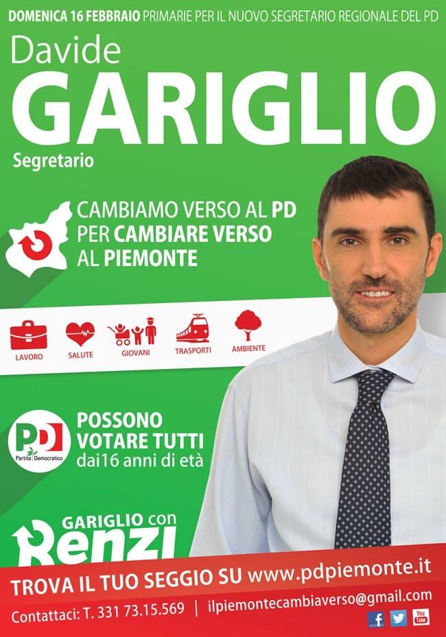Pd Piemonte: anche ad Asti ha vinto Davide Gariglio
