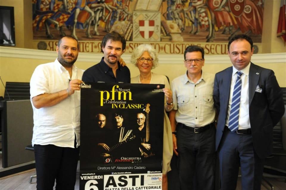 Presentato in Municipio il Concerto dell'Orchestra sinfonica di Asti e la PFM