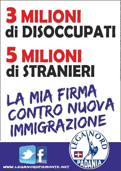 Nelle piazze astigiane gazebo della Lega Nord per mantenere il reato di clandestinità