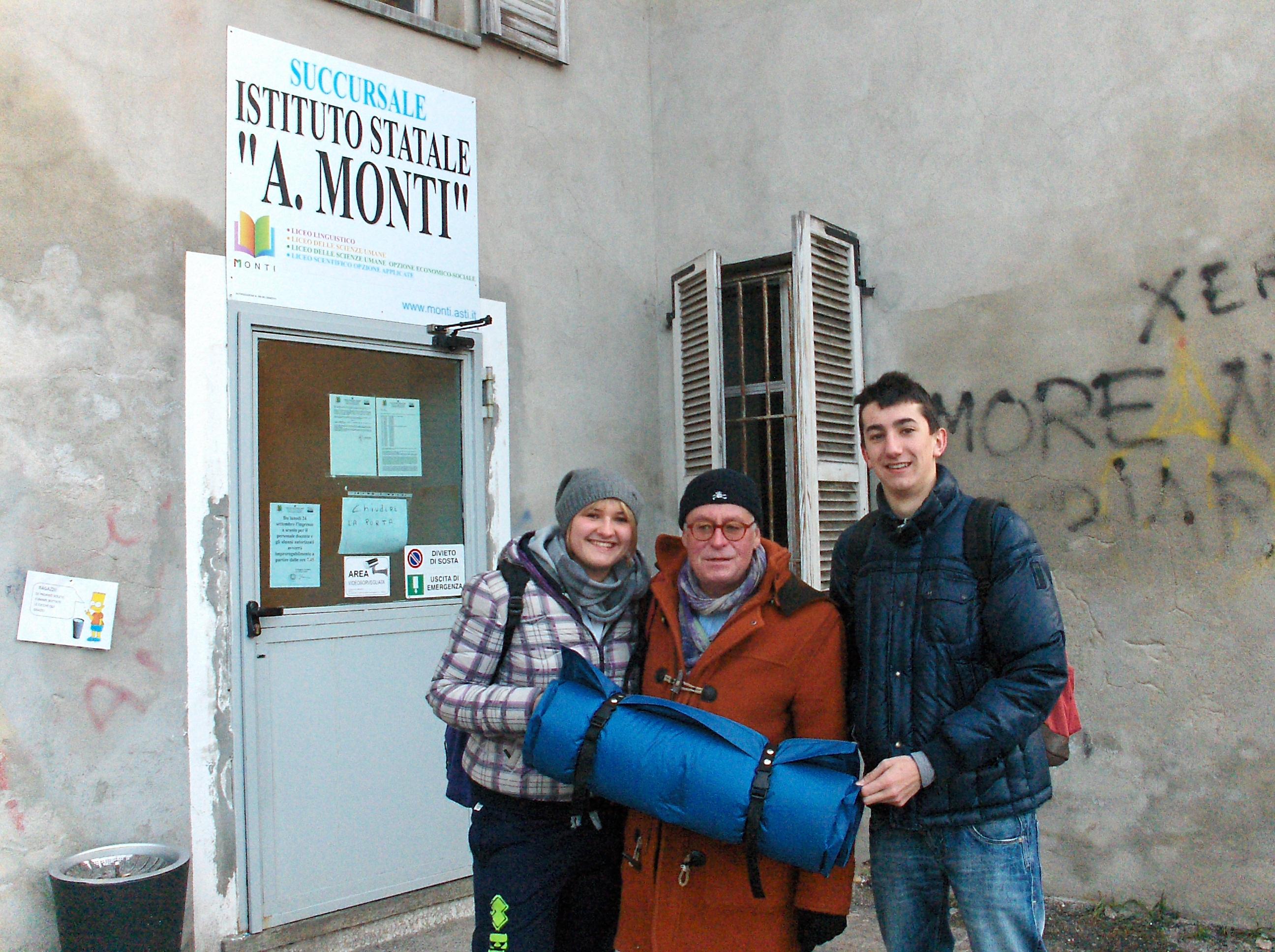 Le immagini dell'occupazione all'Istituto Monti