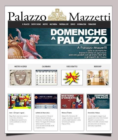 Nuovo sito internet per Palazzo Mazzetti