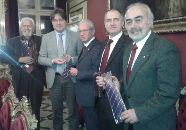 Incontro tra il sindaco Brignolo e i Bersaglieri in vista del Raduno Nazionale ad Asti del 2014