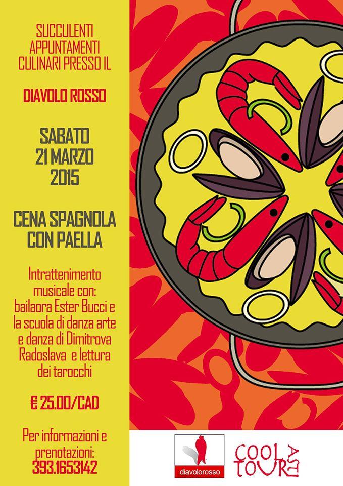 Cena spagnola al Diavolo Rosso