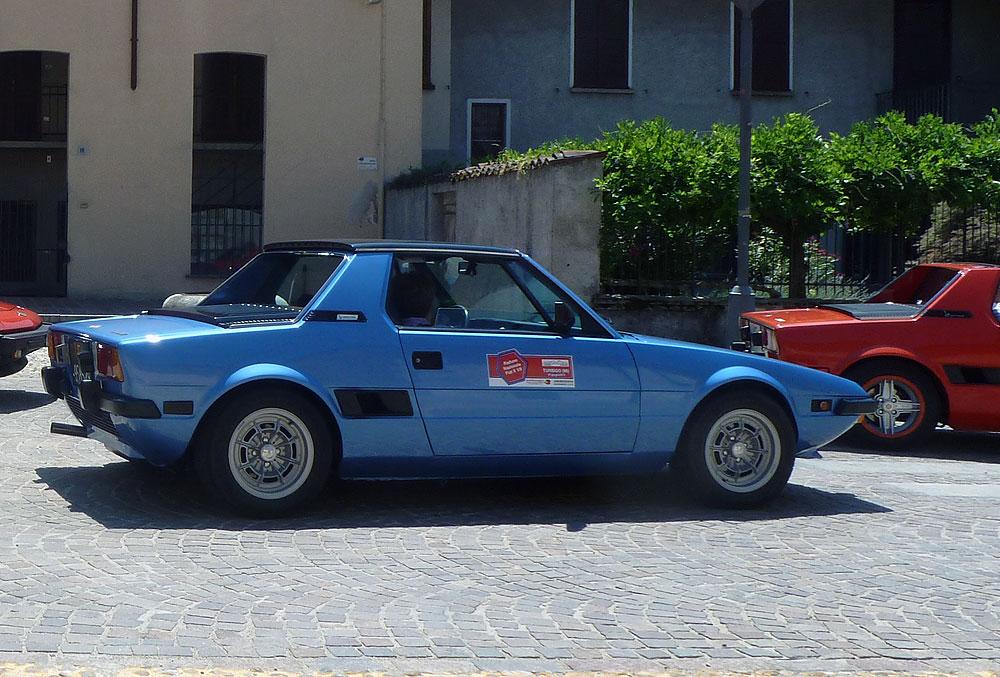 Fiat X1/9 in esposizione a Moncalvo