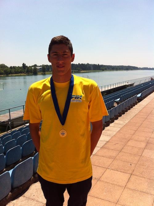 Alberto Brumana campione italiano di nuoto in acque libere