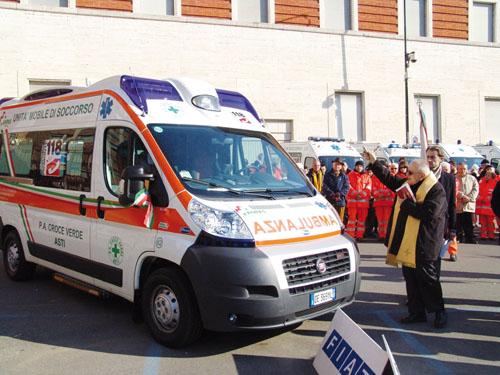 Nuova ambulanza per la Croce Verde di Asti