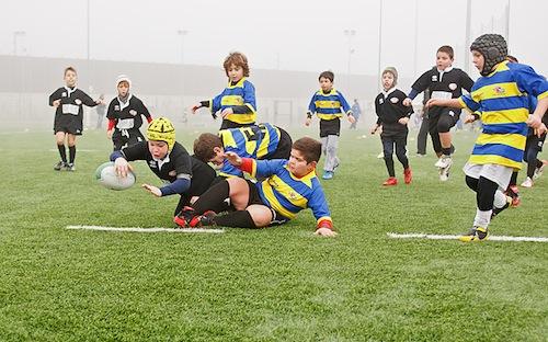 I galletti neri della Junior Asti Rugby al Torneo Telethon di Settimo Torinese