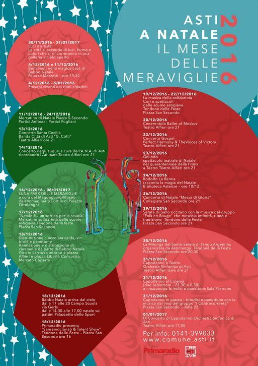 """Asti, a Natale """"il mese delle meraviglie"""""""