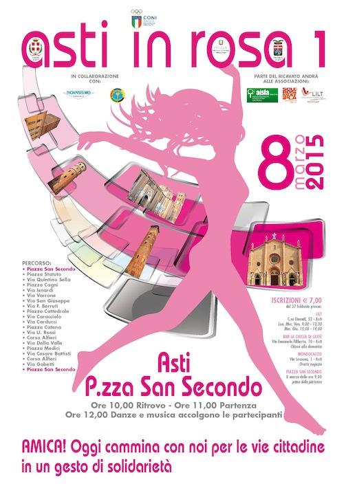 """Una camminata tutta al femminile per la prima edizione di """"Asti in Rosa"""""""