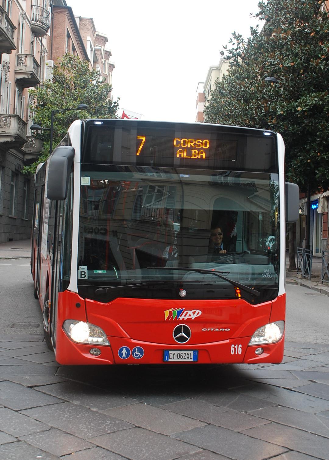 Giovedì 30 novembre cambio di percorso per i bus delle linee Asp 2 e 2/