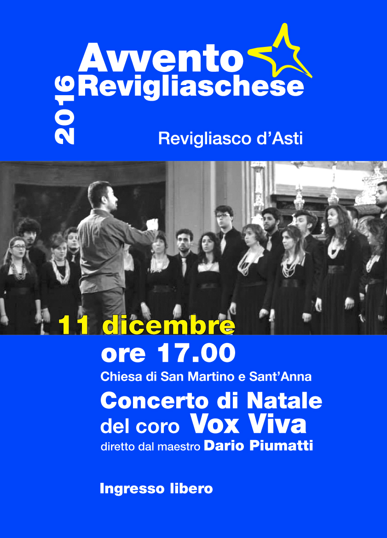 Concerto di Natale del Coro Vox Viva per l'Avvento Revigliaschese