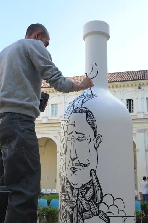 Bottiglie d'Artista al palazzo del Michelerio