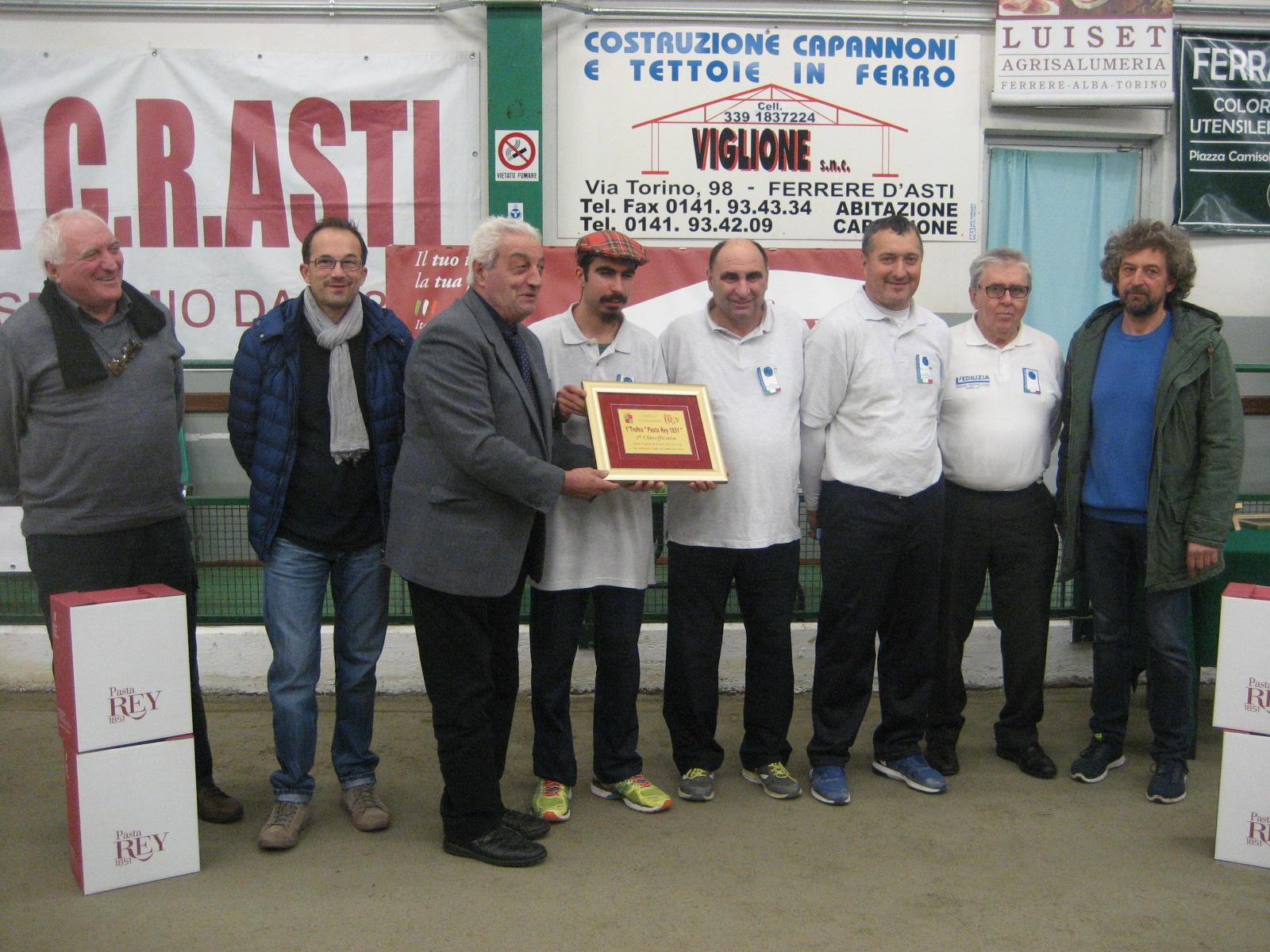 "Trofeo ""Pasta Rey"" a Mario Boero – Flavio Gioda – Gabriele Parena"