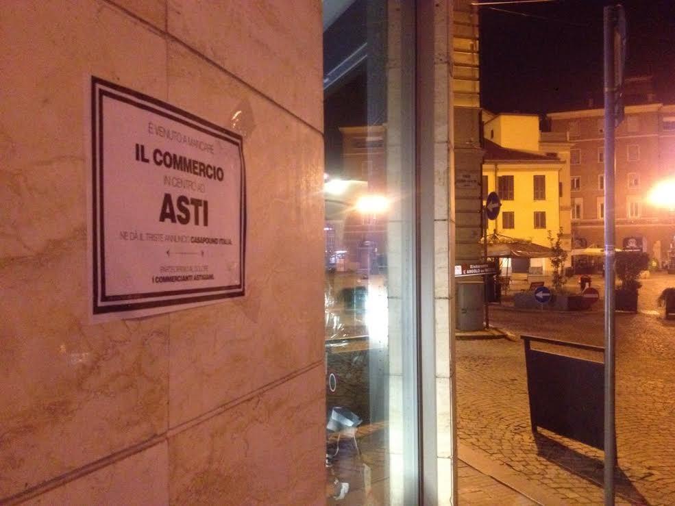 Azione di Casa Pound contro la Ztl di Asti