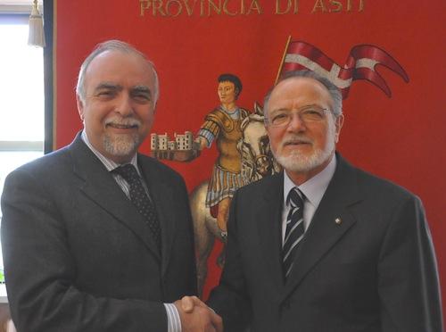 Il neo questore di Asti Di Francesco incontra il commissario Ardia