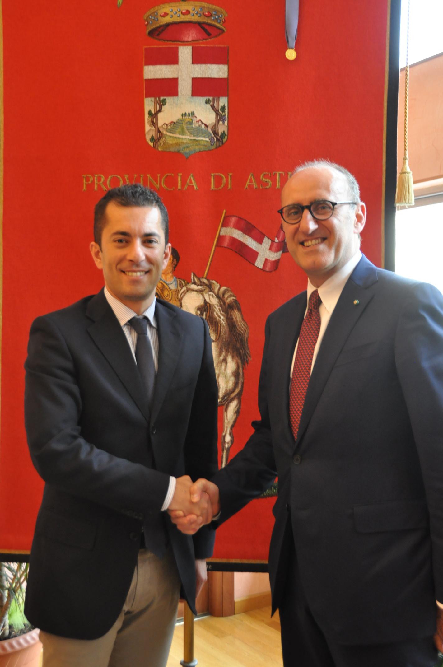 Il presidente della Provincia Gabusi incontra il neo prefetto Formicola