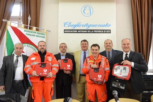 Da Confartigianato quattro defibrillatori all'Anpanas