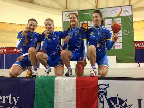 Ciclismo. Europei pista: medaglia d'oro per Francesca Pattaro