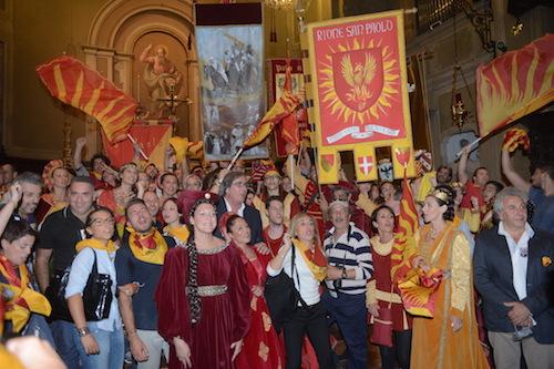Asti è oro-rossa: San Paolo ha vinto il Palio 2015