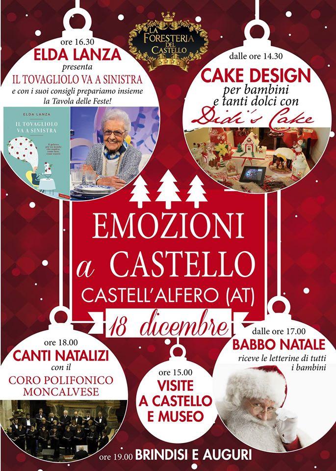 """""""Emozioni & Stile"""" a Castell'Alfero: atmosfere natalizie con Elda Lanza"""