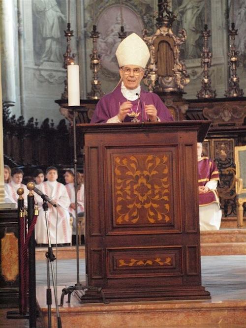 Tutti gli appuntamenti settimanali del vescovo Ravinale