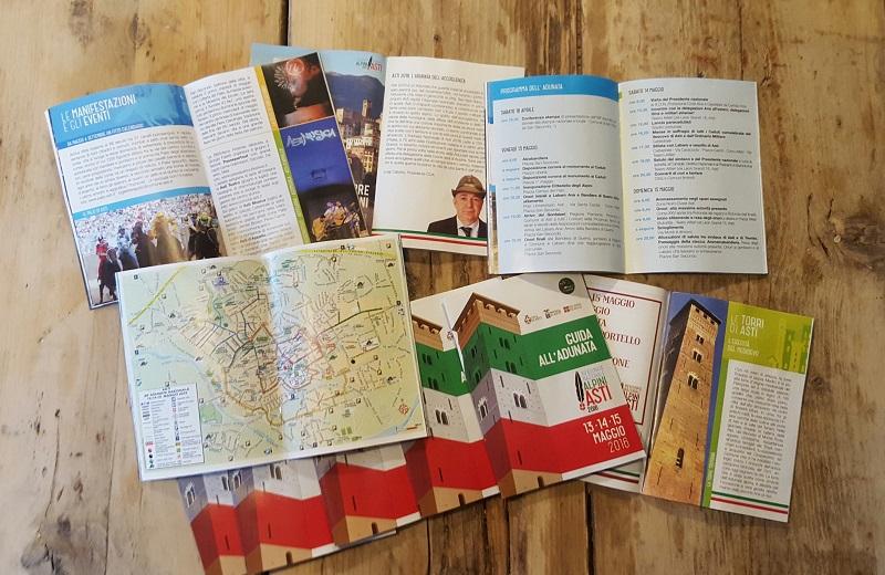 Asti e l'Astigiano su 450mila copie della Guida all'Adunata degli alpini