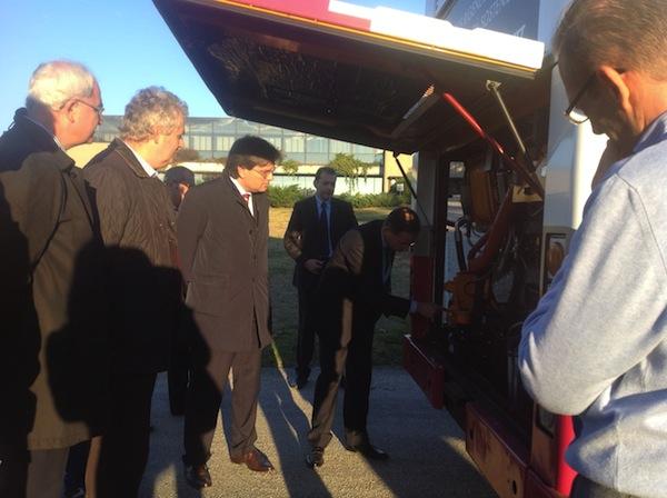Bus ecologici: delegazione astigiana da Pininfarina per il progetto Hybus