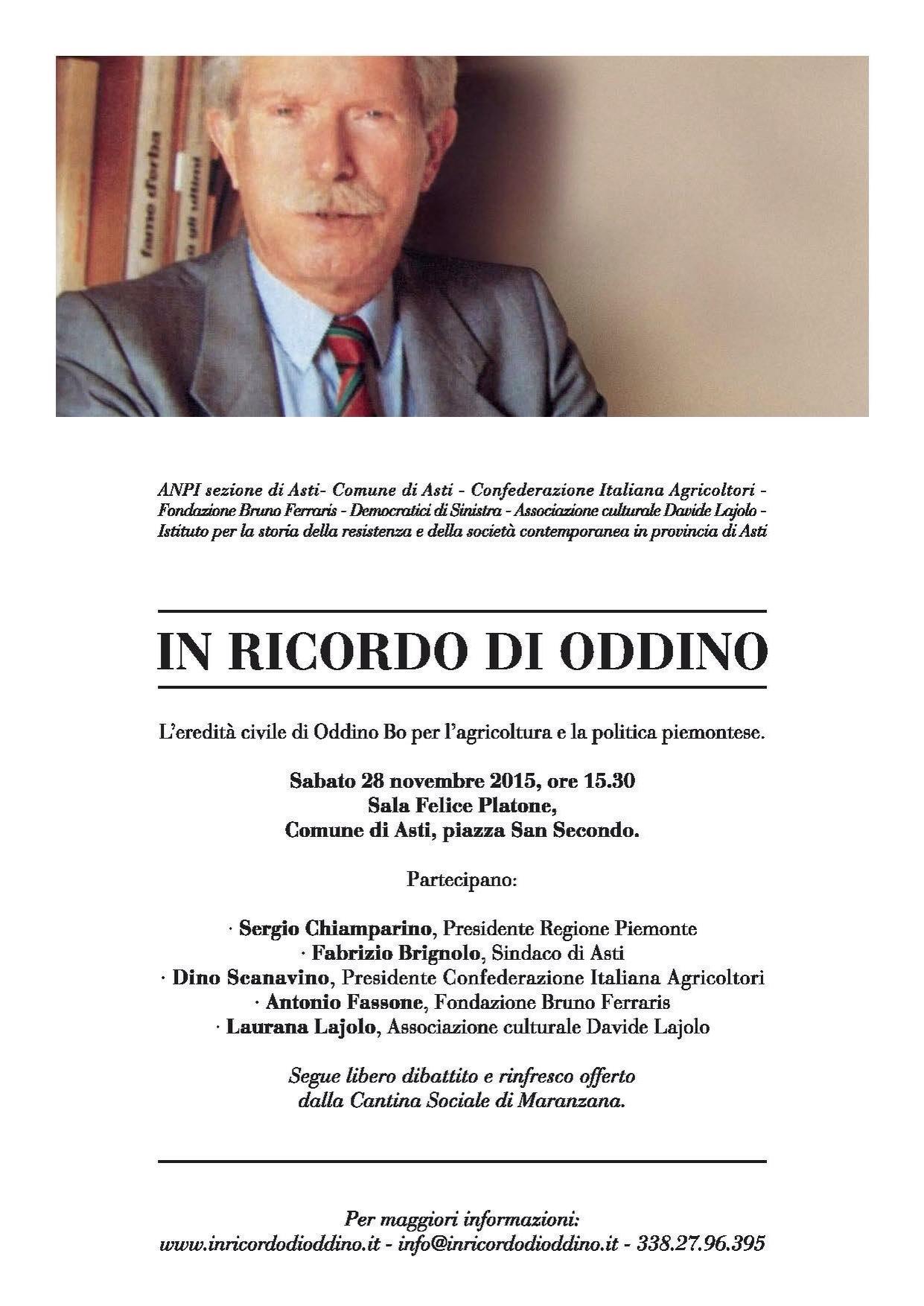 L'Israt ricorda Oddino Bo, Olga Idrame e Corrado Bianco