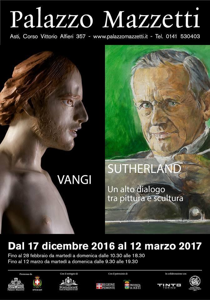 """Inaugurata a Palazzo Mazzetti la mostra """"Sutherland – Vangi. Un alto dialogo tra pittura e scultura"""""""